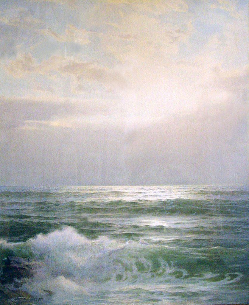 Ocean Landscape, © William Trost Richards, watercolor, 30 X 24 inches