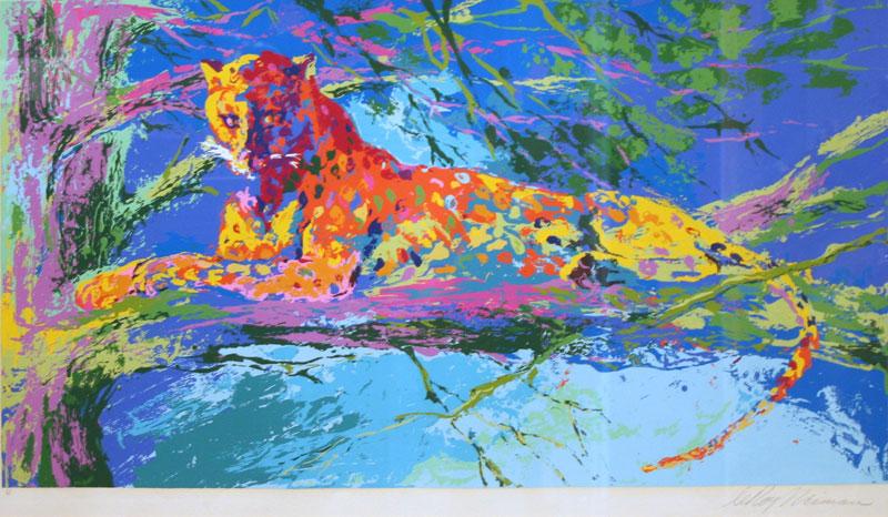 Kenya Leopard (artist proof), © LeRoy Neiman, 22.5 X 38.5 inches